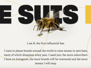 World's first bee influencer aims to raise funds to save her species