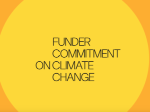 Foundations sign up to new Funder Commitment on Climate Change