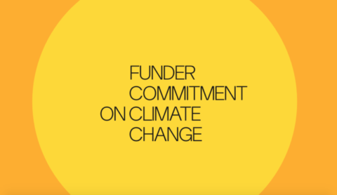 funder commitment on climate change