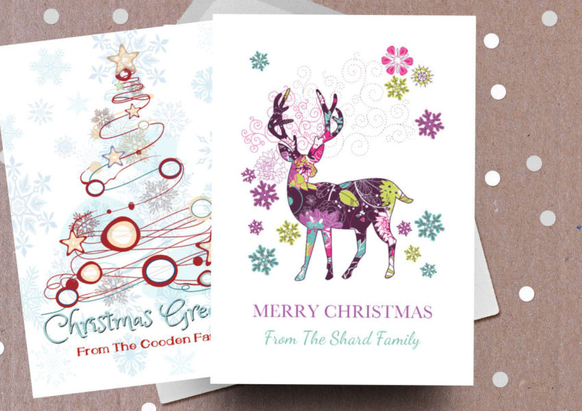 Making a Difference Cards - family Christmas card