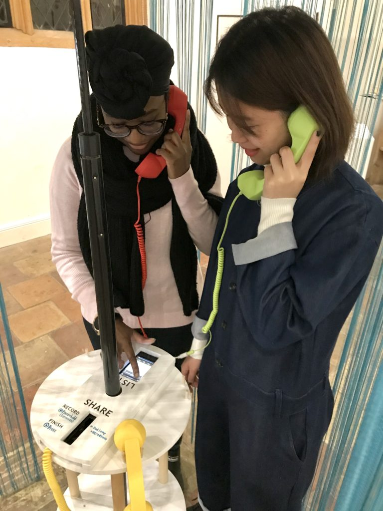 A telephone exhibit at the Museum of Human Kindness