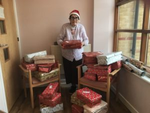 Real-life Bristol based Santa Claus works year round to create 500 charity shoeboxes