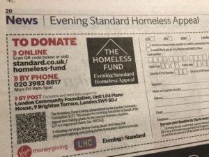 Newspaper & radio Christmas appeals 2019
