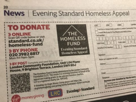 evening standard christmas appeal