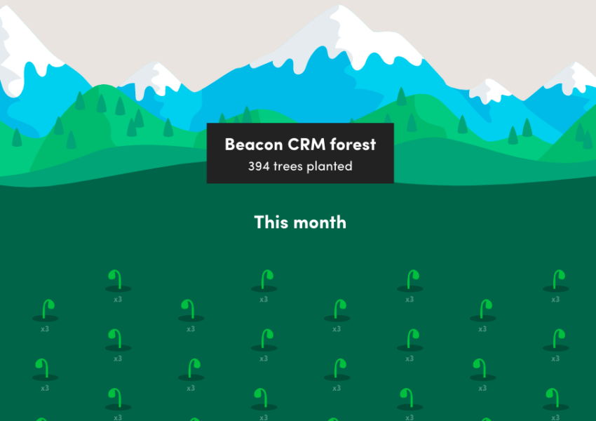 Beacon CRM's forest graphic