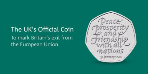 50p commemorative Brexit coin - image: Royal Mint