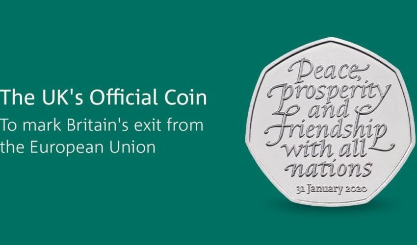 50p commemorative Brexit coin - image: Royal Mint