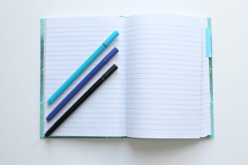 pens & notebook