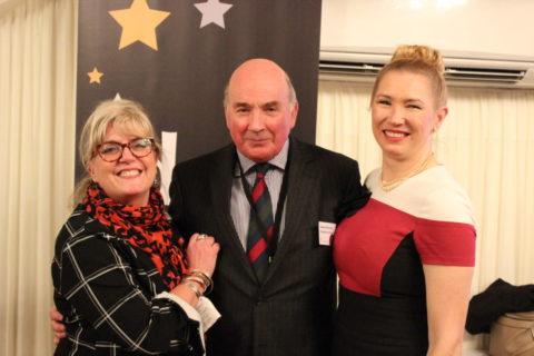 Debra Alcock-Tyler, Lord Dannatt and Caron Bradshaw at the DSC Social Change Awards 2020