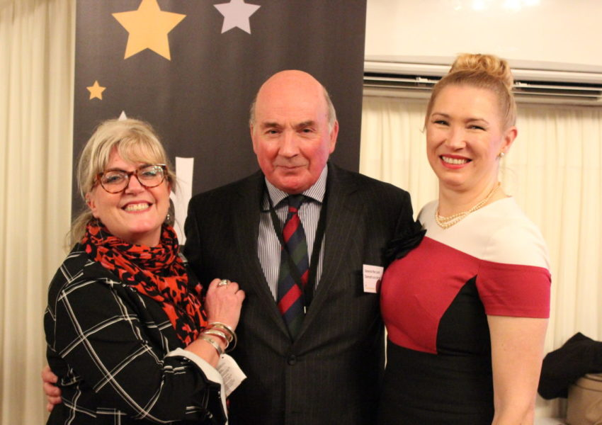 Debra Alcock-Tyler, Lord Dannatt and Caron Bradshaw at the DSC Social Change Awards 2020