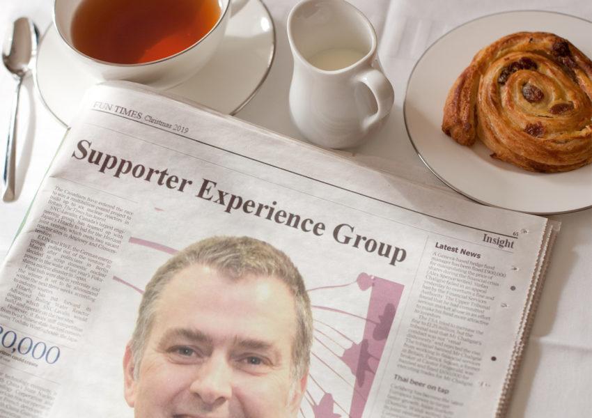 Duncan Batty in newspaper (mockup)