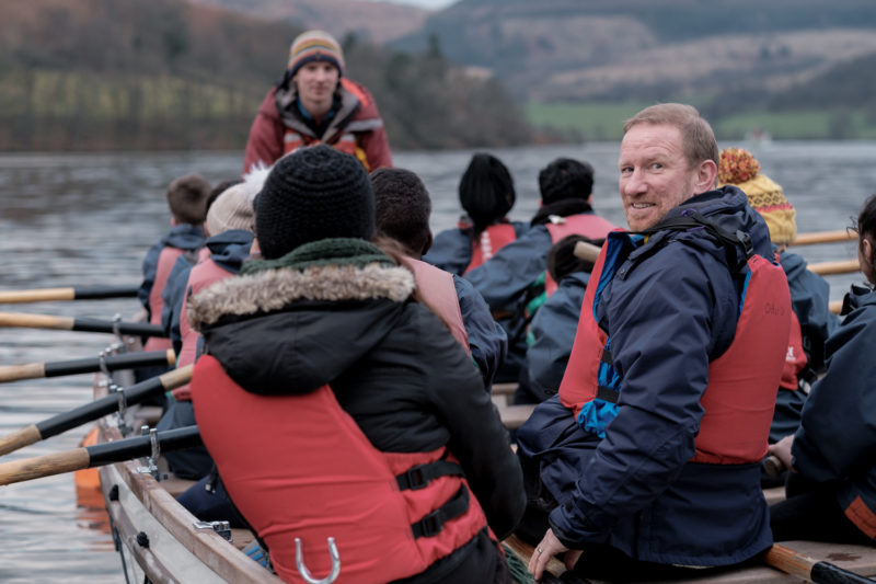 Barratt Developments CEO David Thomas on an Outward Bound visit