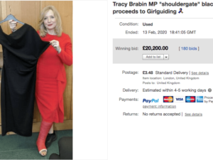 Tracy Brabin's 'Shouldergate' dress raises £20,200 for Girlguiding