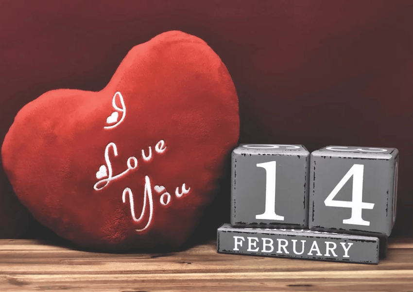 I love you (words on a red love heart)