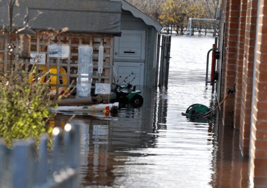 Flooding in Lancashire, February 2020