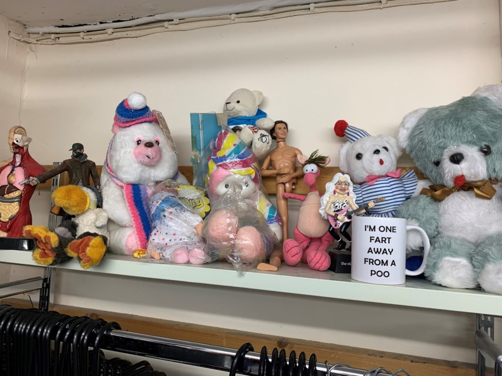 Mind's Alnwich shop has a shelf of weird donated items