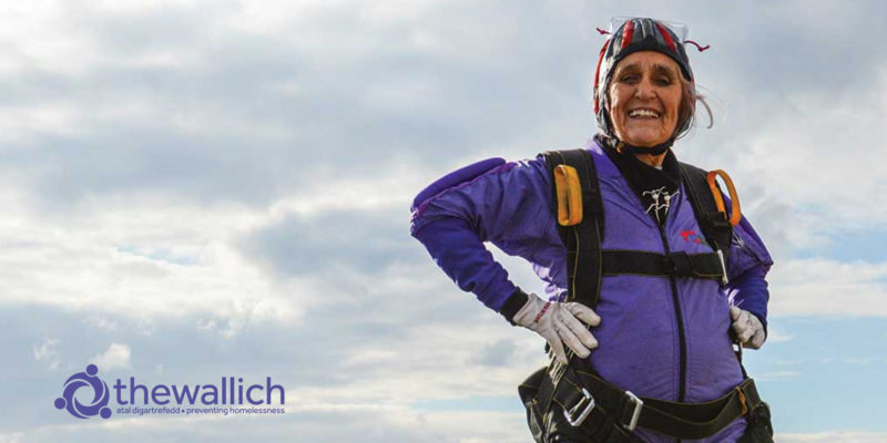Dilys Price OBE, the world's oldest woman skydiver
