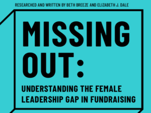 Women missing out on fundraising leadership roles, research shows
