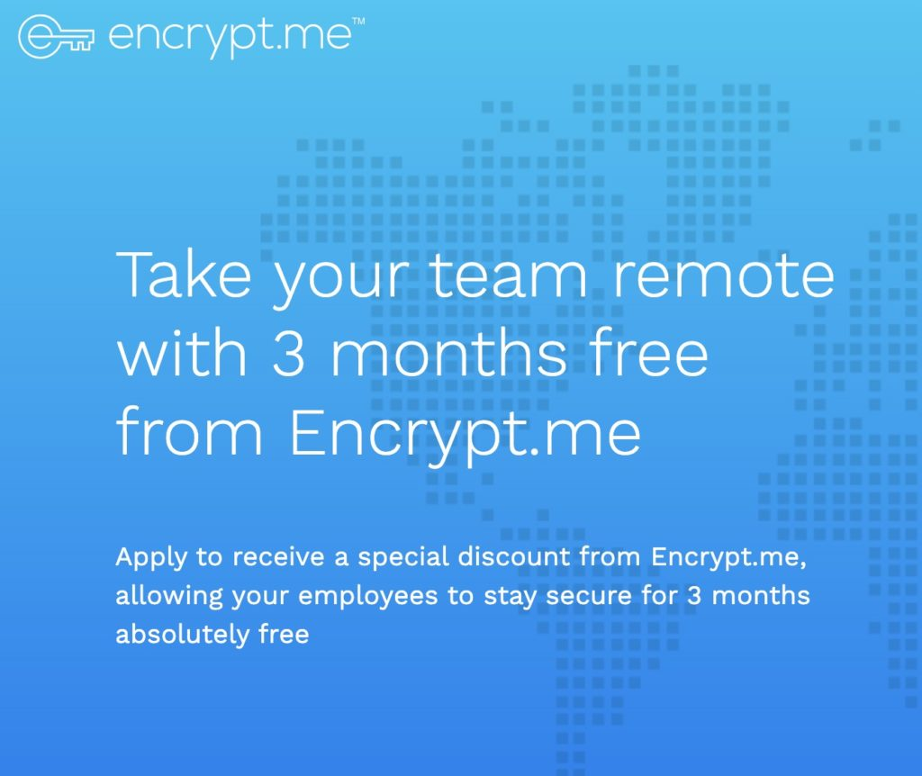 Encrypt.me offer of three months free access