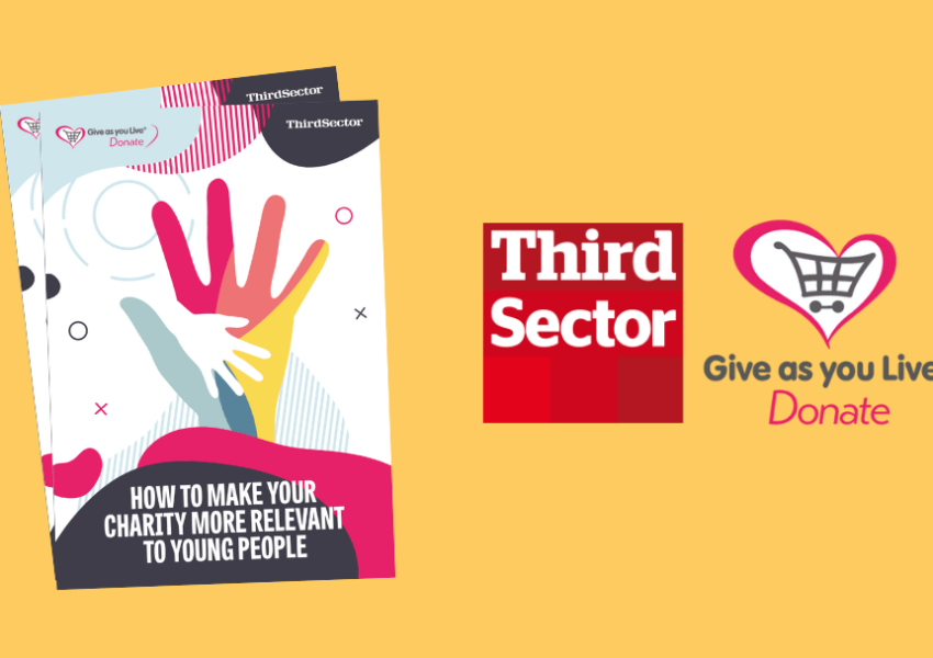 Give as You Live Donate report cover in partnership with Third Sector