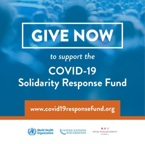 Give Now to the COVID-19 Solidarity Response Fund