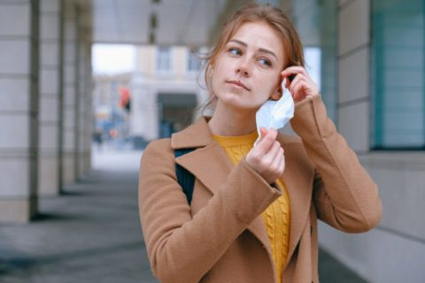 Woman wearing face mask in the time of coronavirus - photo: Pexels