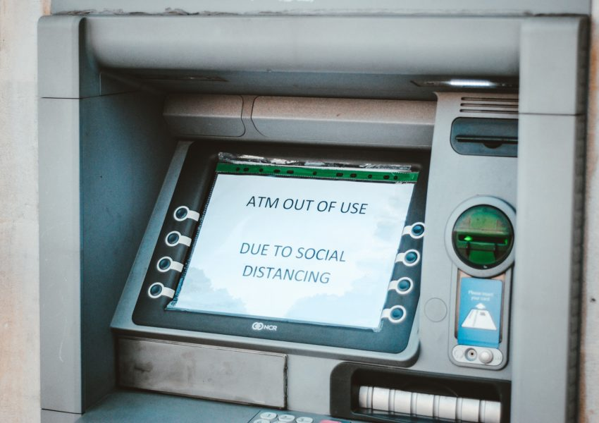 Cash machine out of action due to social distancing during coronavirus - photo: Unsplash.com