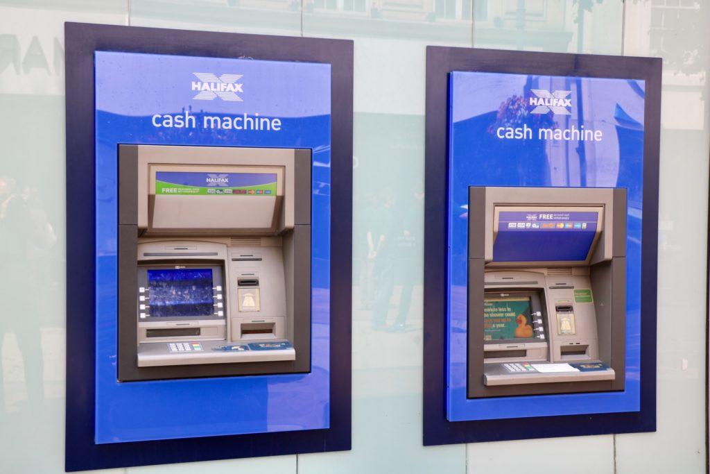 Two Halifax cash machines