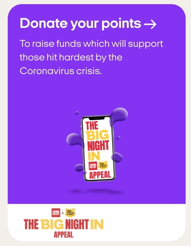 Donate Nectar points via the Big Night In
