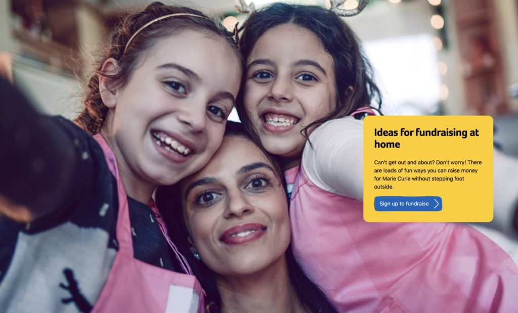 Marie Curie ideas for fundraising from home