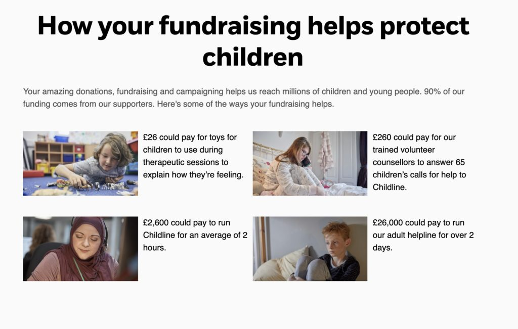 How fundraising helps protect children - what donation amounts enable NSPCC to achieve