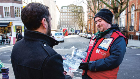 Big Issue vendor Kris