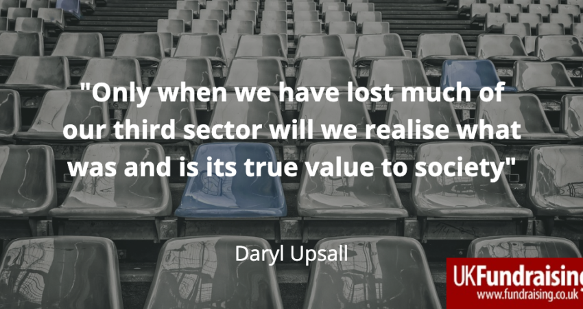 Daryl Upsall quotation on what we lose when we lose charities