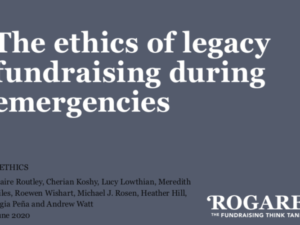 Rogare project examines ethics of legacy fundraising during emergencies