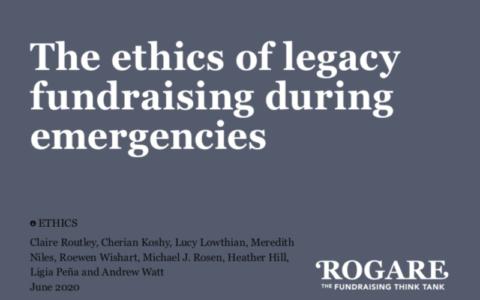 Rogare legacy fundraising ethics