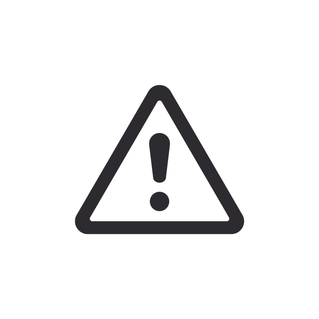 Alert sign - exclamation inside a triangle shape