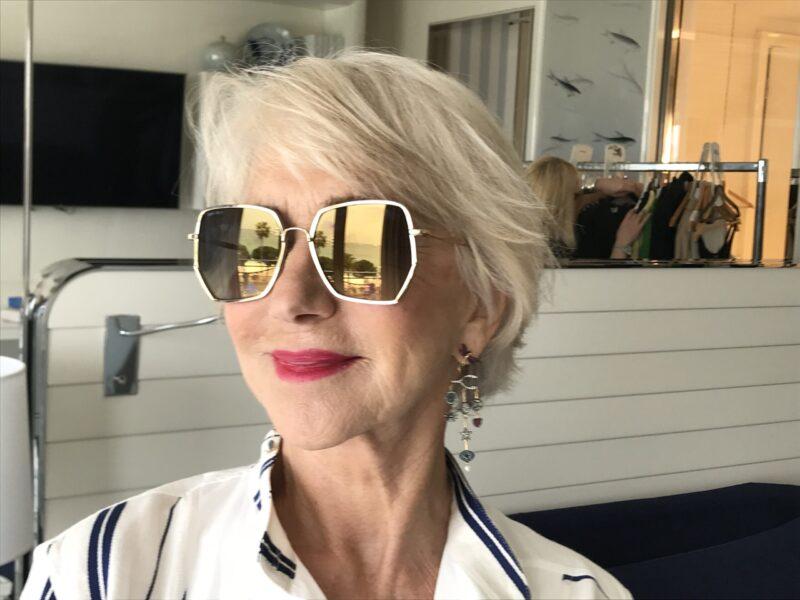 Helen Mirren_Jimmy Choo sunglasses
