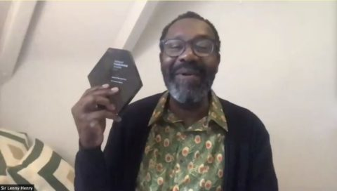 Lenny Henry and his IoF 2020 award