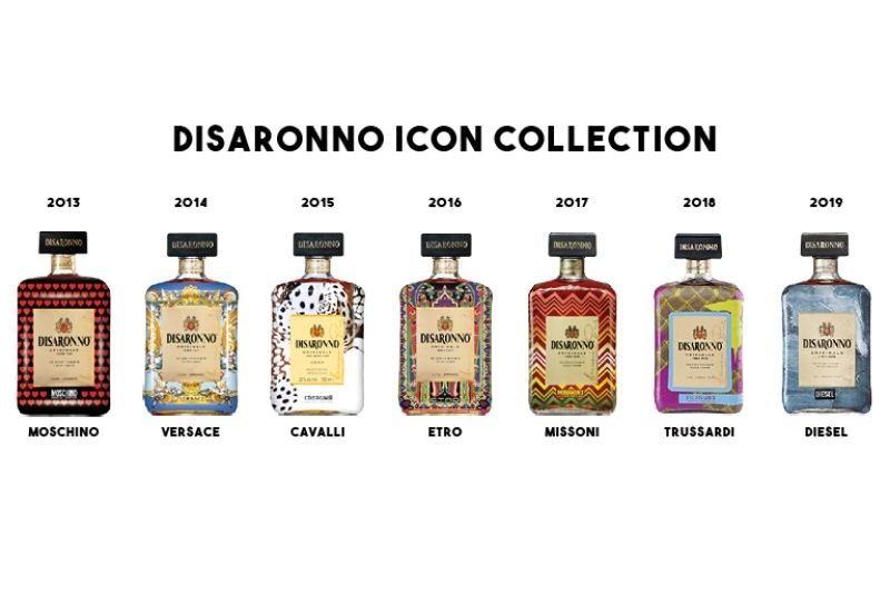 Limited edition Disaronno bottles