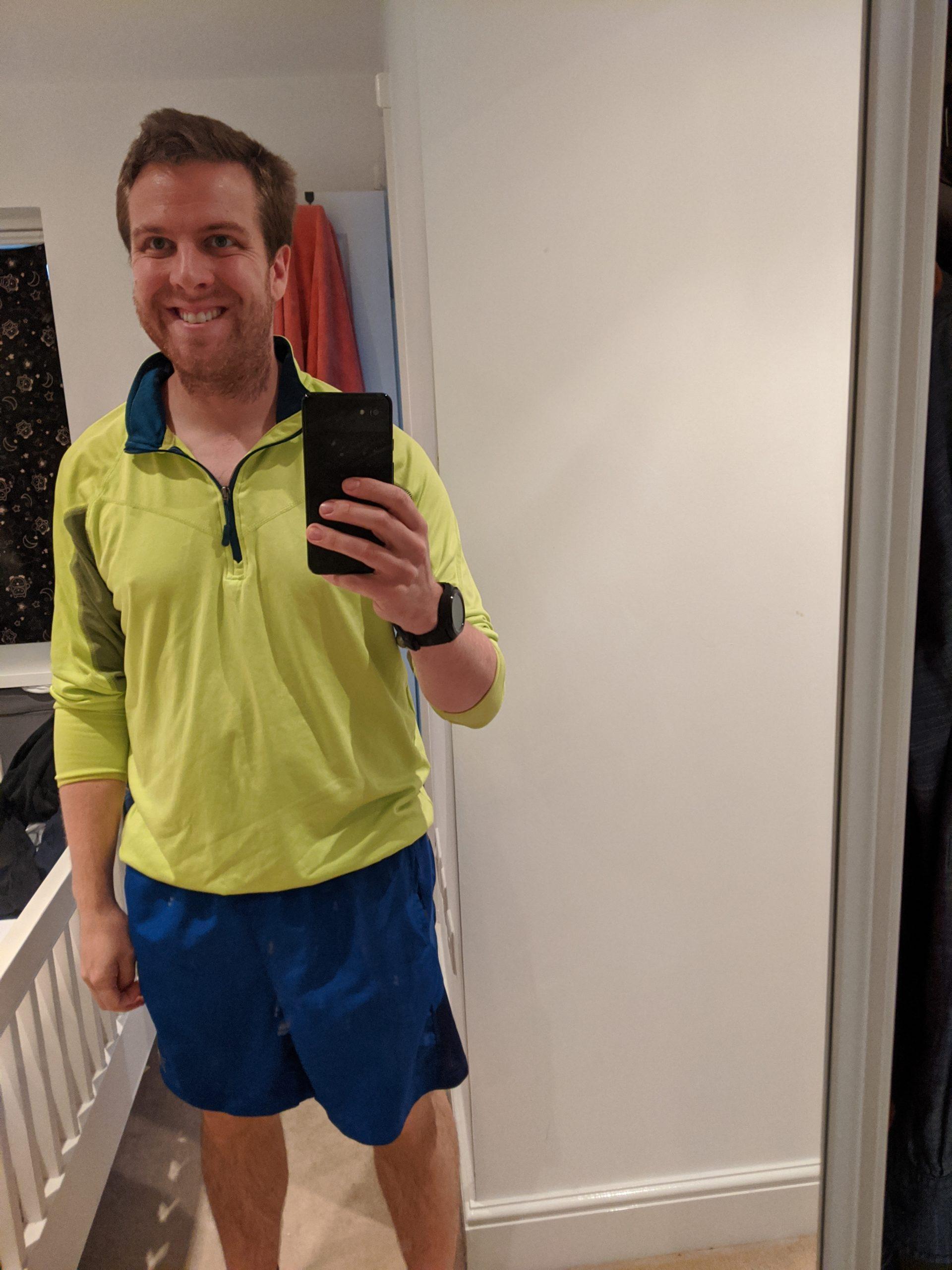 Oli Hiscoe in running gear