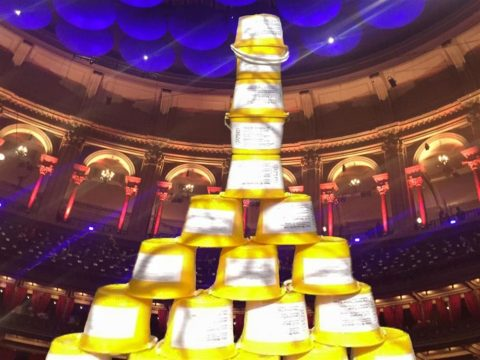 Prommers' collecting buckets at the Royal Albert Hall (photo: Promenaders' Musical Charities