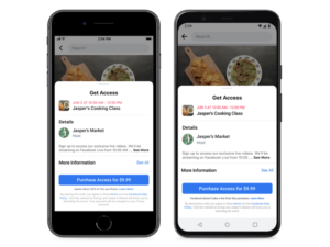 Facebook adds option for Page owners to run paid for online events