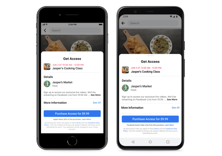Facebook Adds Option For Page Owners To Run Paid For Online Events Uk Fundraising Get your team aligned with. run paid for online events