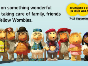 Wombles lend a hand for 2020 Remember A Charity in your Will Week