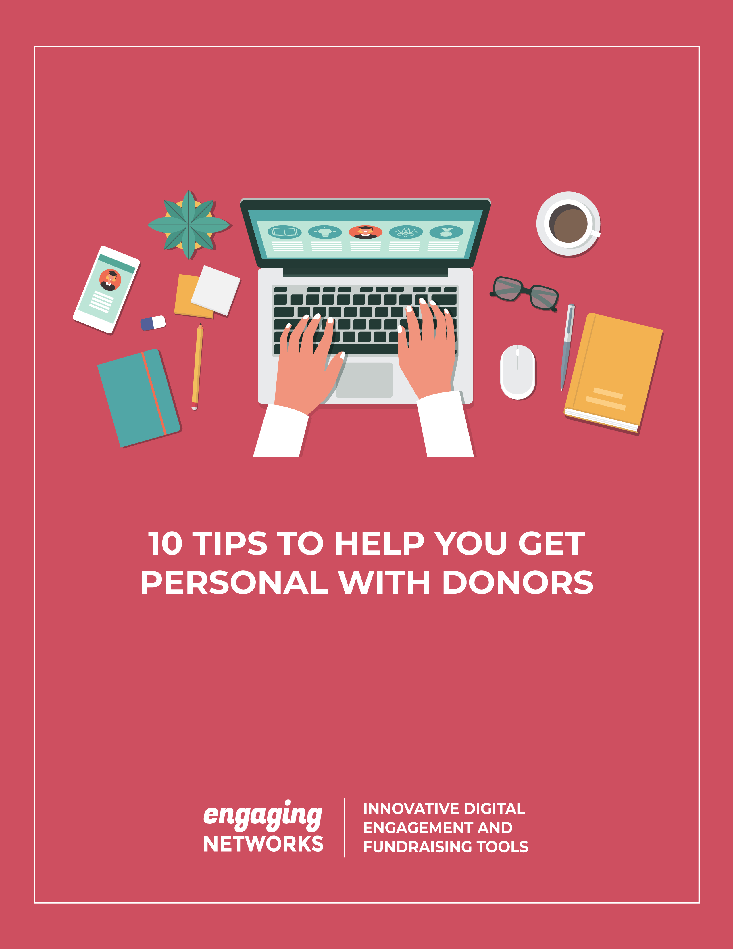 Cover of 10 tips to help you get personal with donors