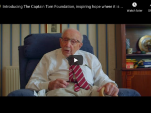 Captain Tom Moore officially launches his foundation