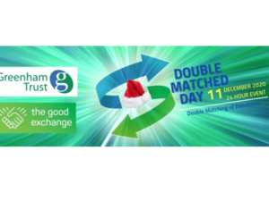 Charities invited to participate in Greenham Trust's Christmas Double Matched Day