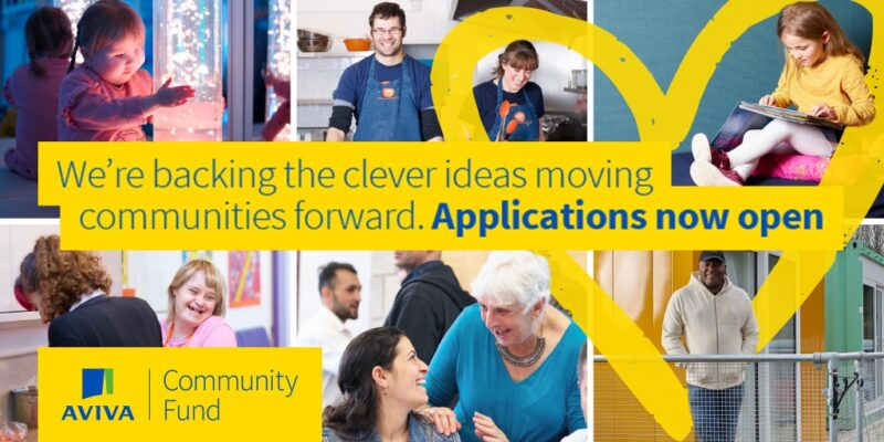 Aviva Community Fund round three opens for applications