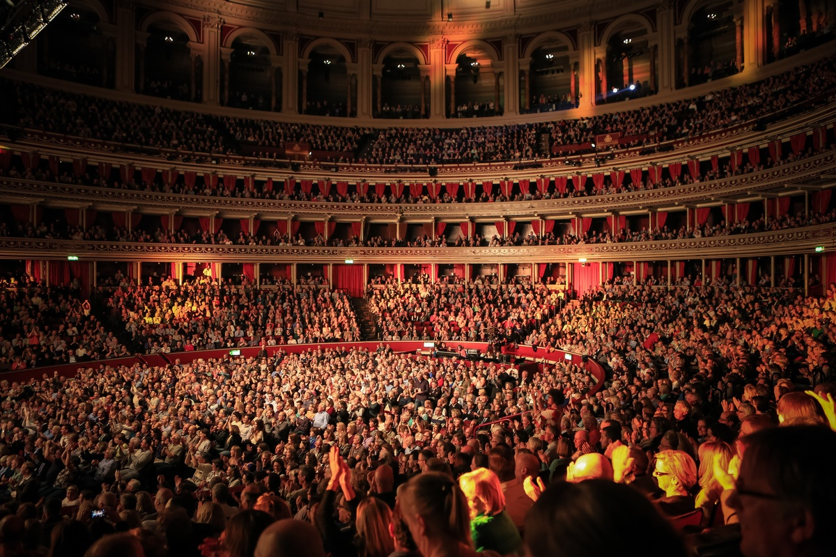 Royal Albert Hall interiors. 8 October 2014.