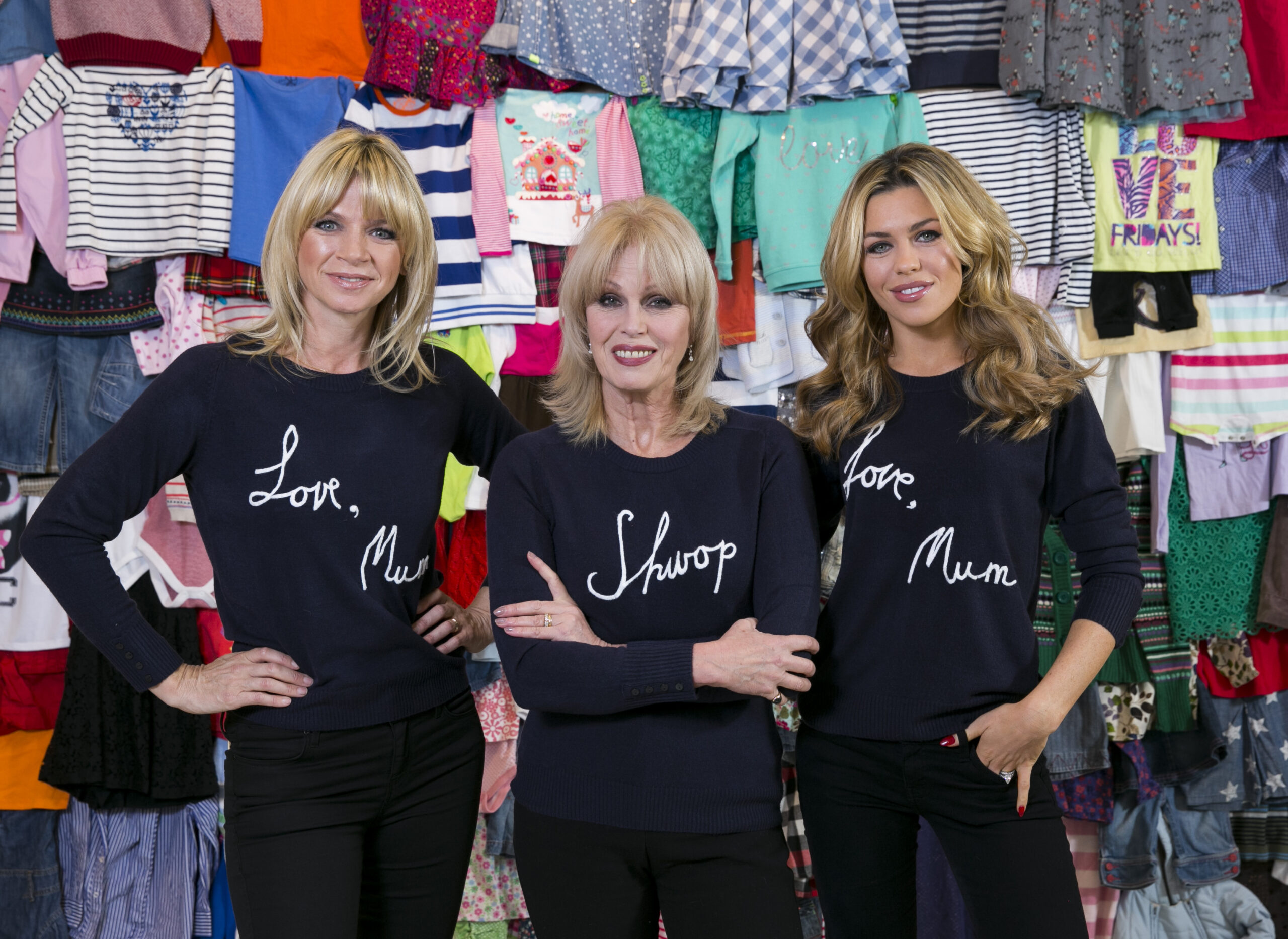 Joanna Lumley, Zoe Ball and Abbey Clancy join forces to launch the new 'Love, Mum' Shwopping campaign